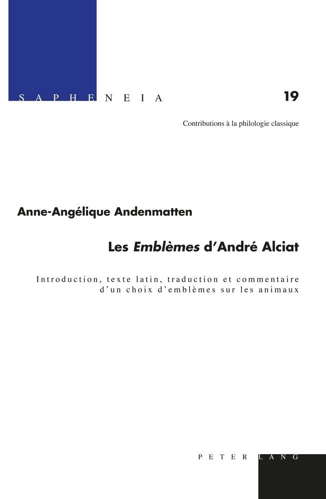 """Les """" Emblèmes """" d'André Alciat als Buch (gebunden)"""