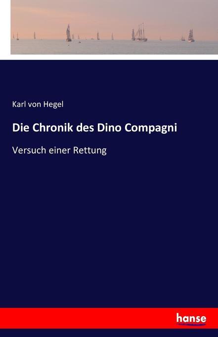 Die Chronik des Dino Compagni als Buch (kartoniert)