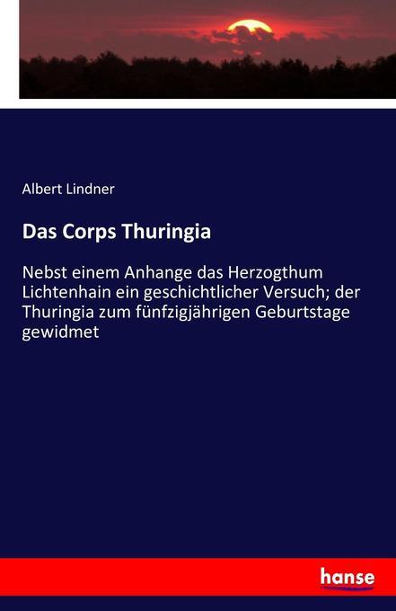 Das Corps Thuringia als Buch (kartoniert)