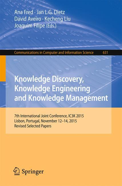 Knowledge Discovery, Knowledge Engineering and Knowledge Management als Buch (kartoniert)