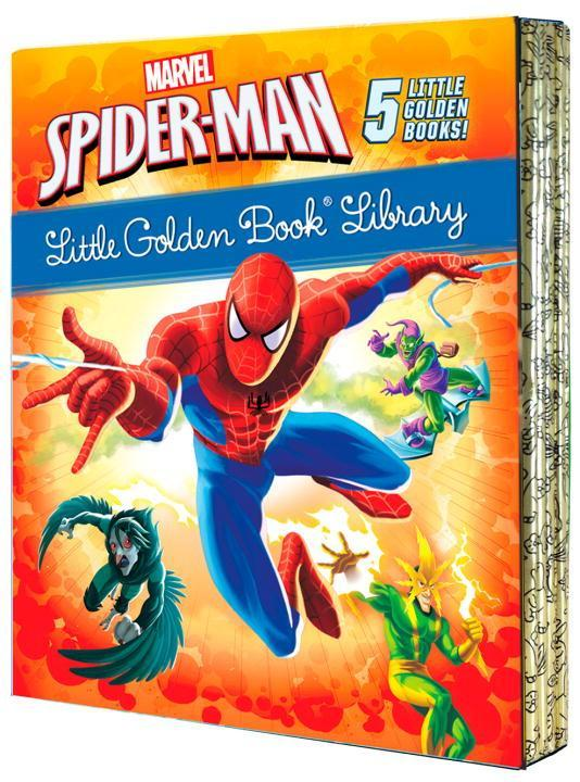 Spider-Man Little Golden Book Library (Marvel): Spider-Man!; Trapped by the Green Goblin; The Big Freeze!; High Voltage!; Night of the Vulture! als Buch (gebunden)
