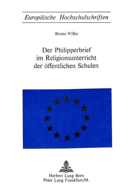 Der Philipperbrief im Religionsunterricht der öffentlichen Schulen als Buch (kartoniert)