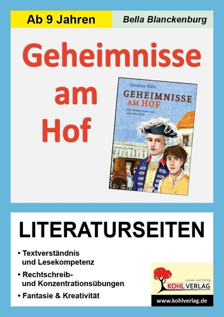 Geheimnisse am Hof - Literaturseiten als Buch (kartoniert)