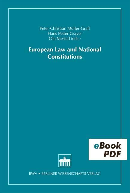 European Law and National Constitutions als eBook pdf
