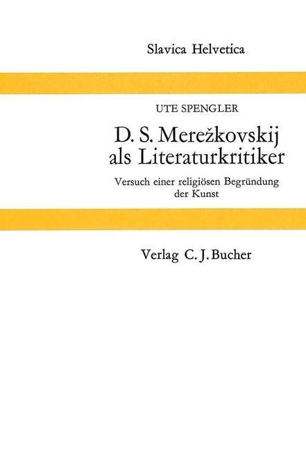 D.S. Merezkovskij als Literaturkritiker als Buch (kartoniert)