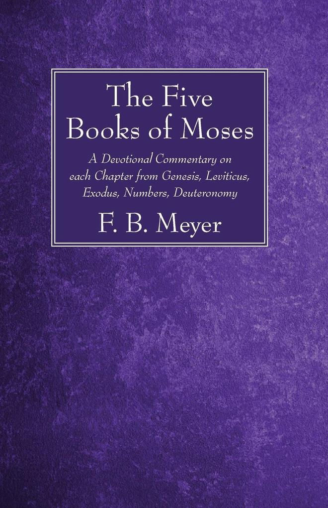 The Five Books of Moses als Taschenbuch