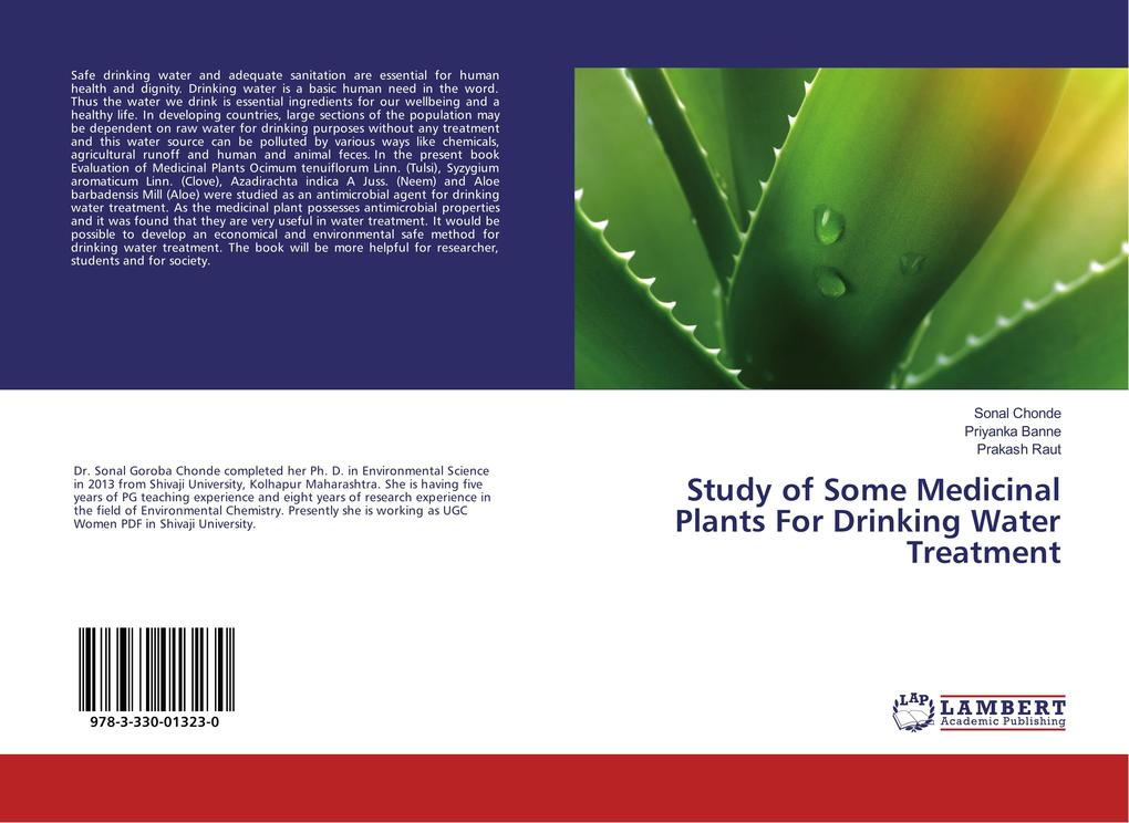Study of Some Medicinal Plants For Drinking Water Treatment als Buch (kartoniert)