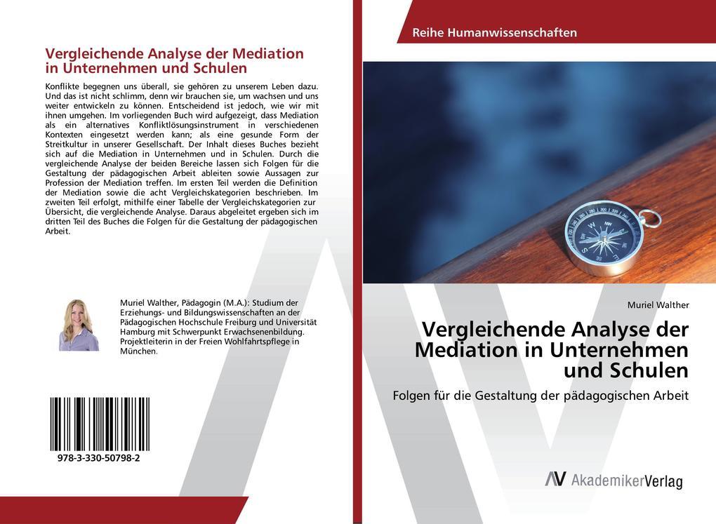 Vergleichende Analyse der Mediation in Unternehmen und Schulen als Buch (kartoniert)