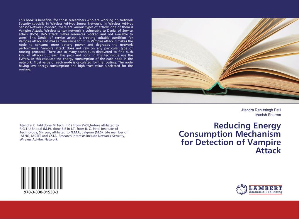 Reducing Energy Consumption Mechanism for Detection of Vampire Attack als Buch (kartoniert)