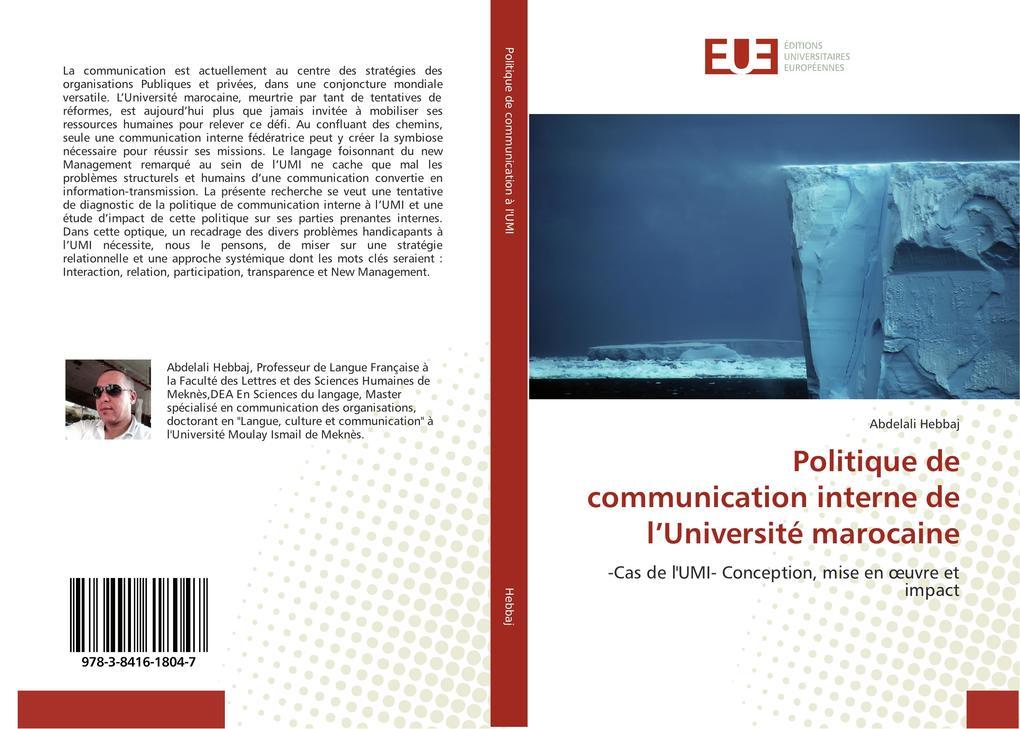 Politique de communication interne de l'Université marocaine als Buch (kartoniert)