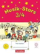 Musik-Stars - Grundwissen 3./4. Schuljahr - Übungsheft mit Lösungen und Audio-CD