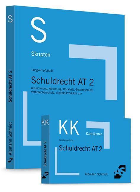 Paket Langkamp, Skript Schuldrecht AT 2 + Lamgkamp, Karteikarten Schuldrecht AT 2 als Buch (kartoniert)