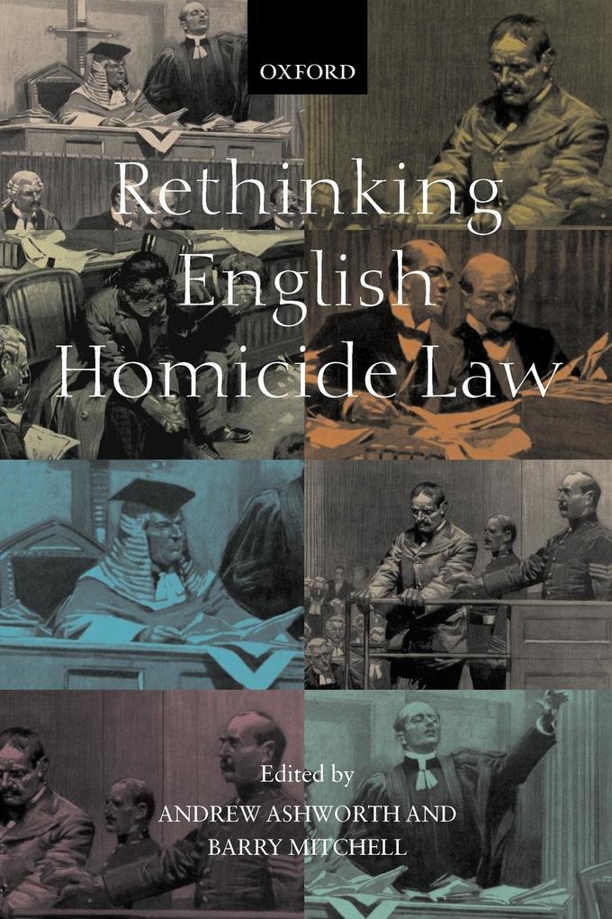 Rethinking English Homicide Law als Buch (kartoniert)