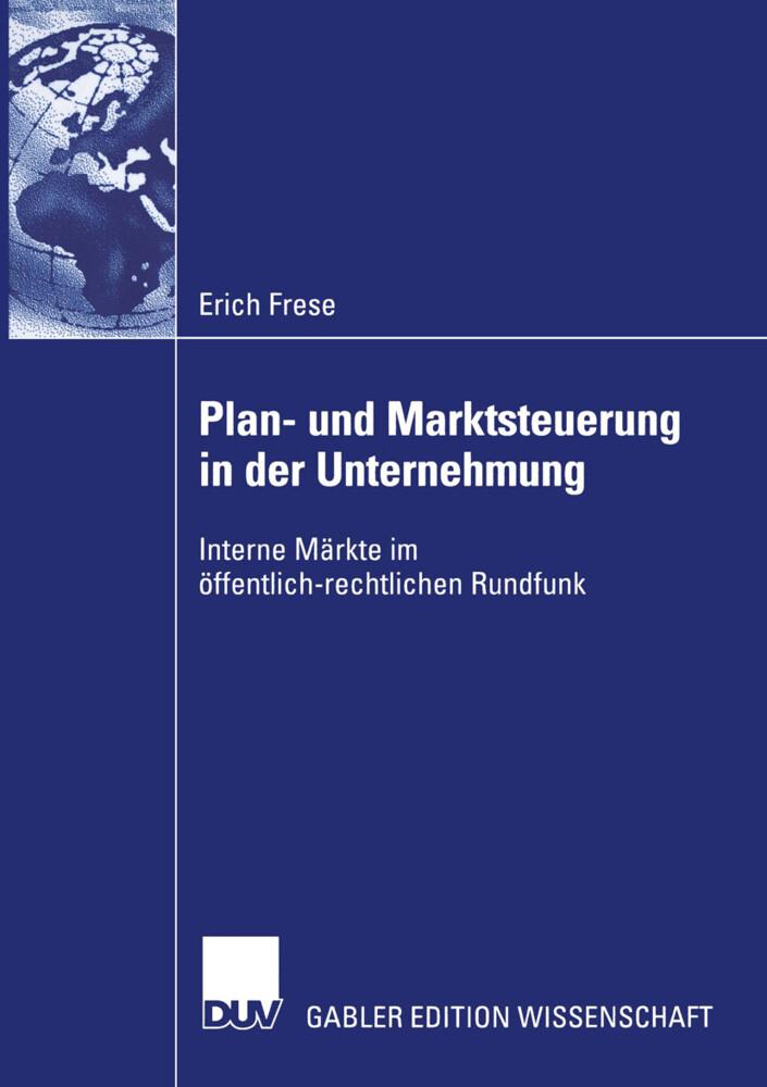 Plan- und Marktsteuerung in der Unternehmung als Buch (kartoniert)