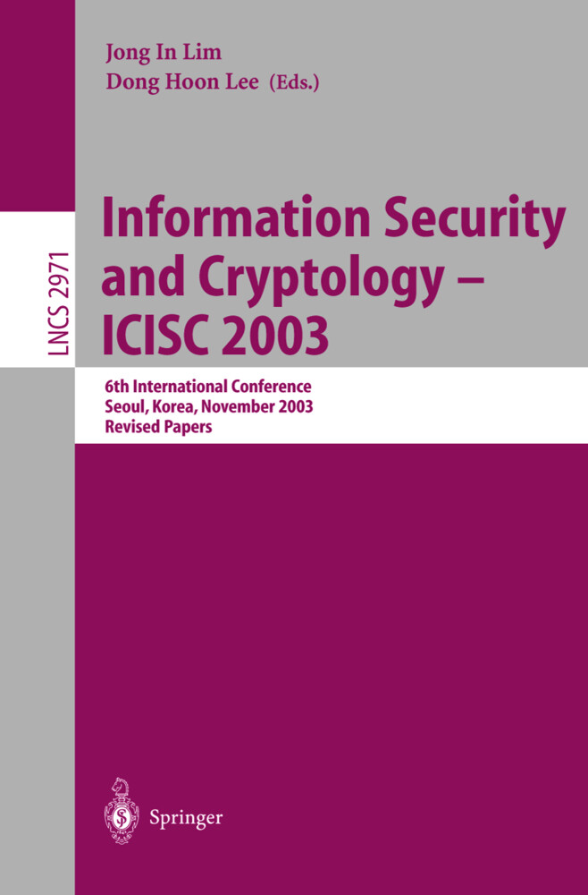 Information Security and Cryptology - ICISC 2003 als Buch (kartoniert)