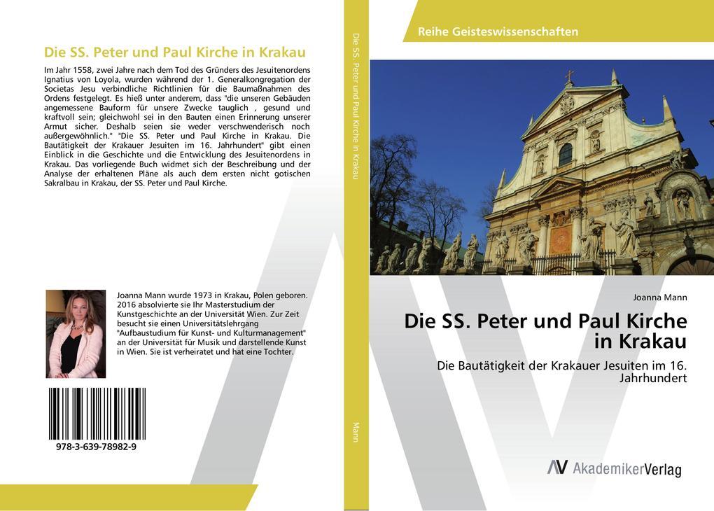 Die SS. Peter und Paul Kirche in Krakau als Buch (kartoniert)