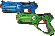 Jamara - Infrarot Gun, Impulse Laser Battle Set blau/grün