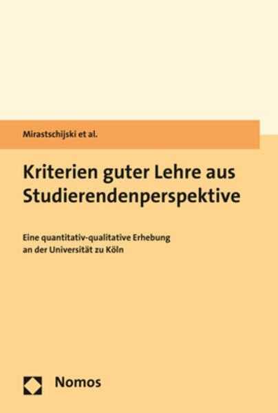 Kriterien guter Lehre aus Studierendenperspektive als Buch (kartoniert)