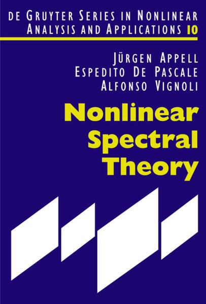 Nonlinear Spectral Theory als Buch (gebunden)