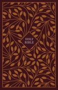 KJV, Thinline Reference Bible, Cloth Over Board, Burgundy/Orange, Red Letter Edition