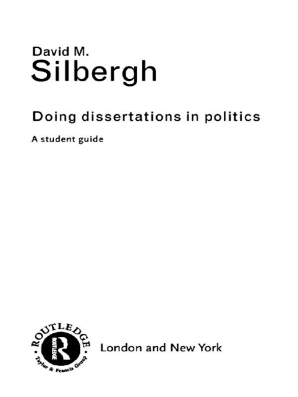 Doing Dissertations in Politics als eBook epub
