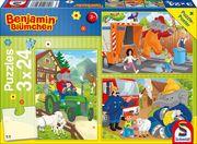 Benjamin Blümchen: In Aktion. 3 x 24 Teile Puzzle