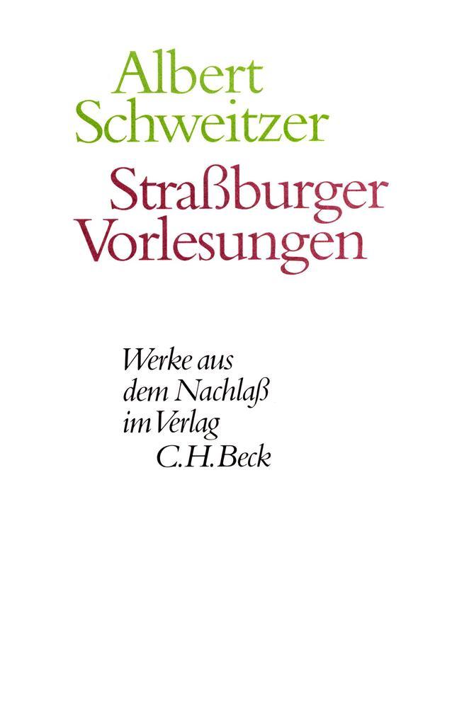 Straßburger Vorlesungen als eBook pdf