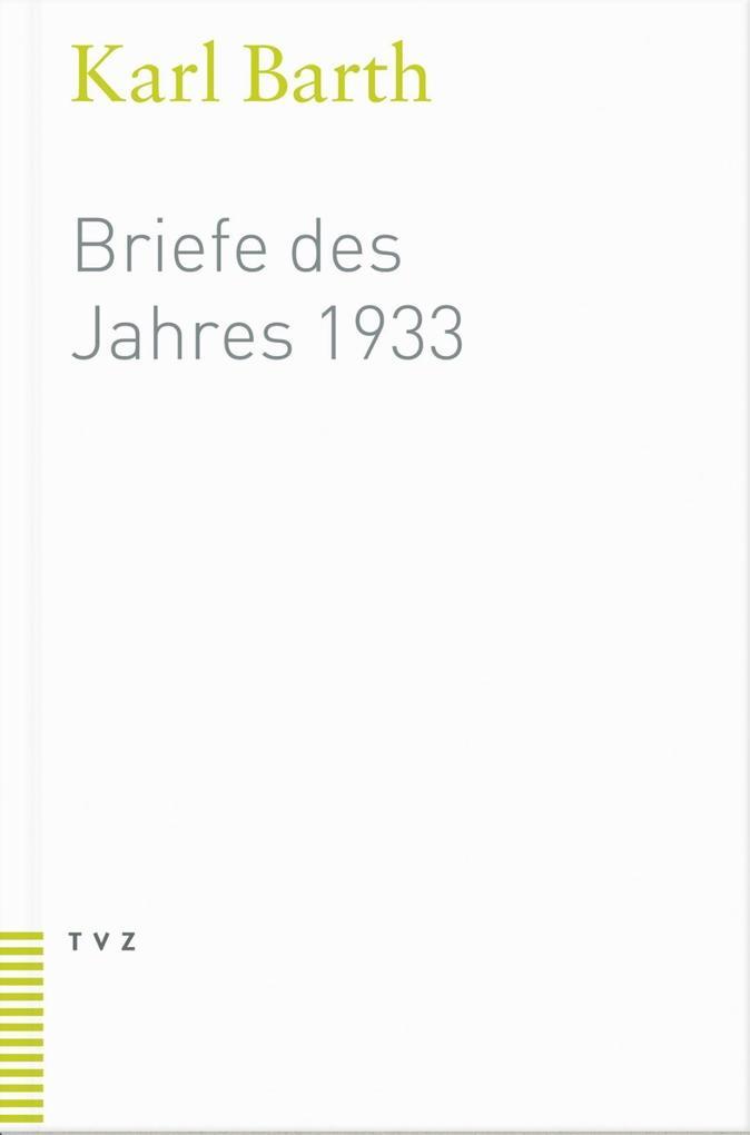 Briefe des Jahres 1933 als Buch (kartoniert)