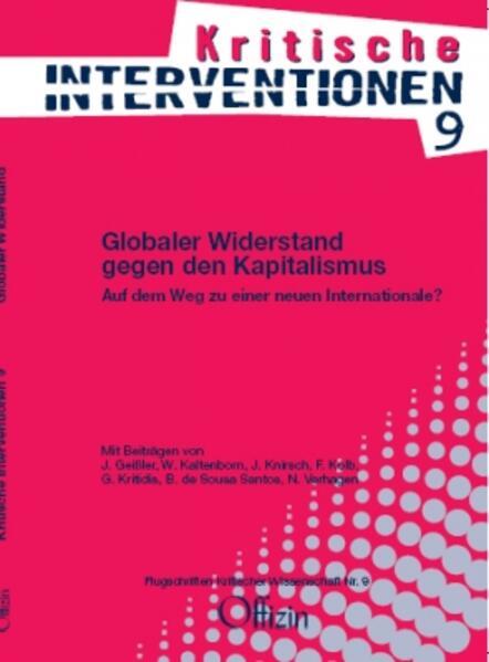 Globaler Widerstand gegen den Kapitalismus als Buch (kartoniert)