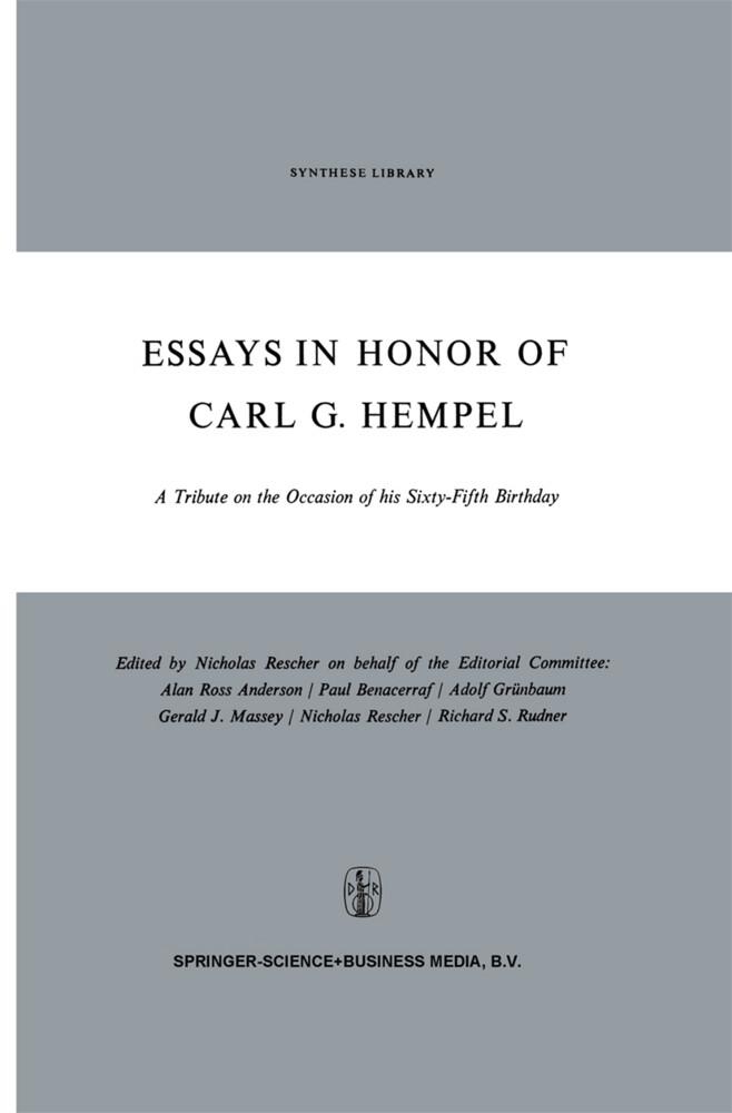 Essays in Honor of Carl G. Hempel als Buch (gebunden)