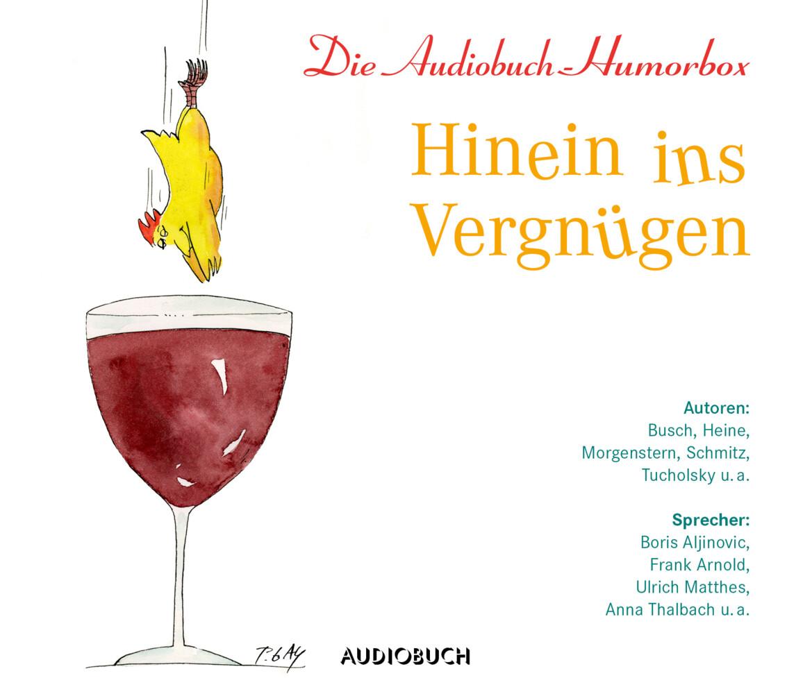 Hinein ins Vergnügen, 3 Audio-CDs als Hörbuch CD