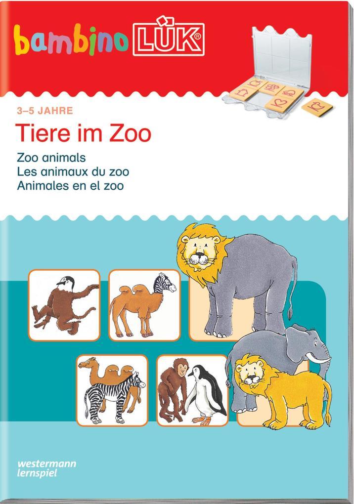 LÜK. Bambino. Tiere im Zoo als Buch (kartoniert)
