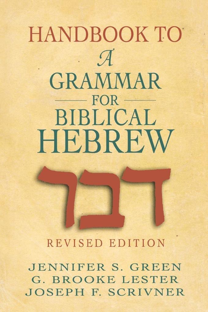 Handbook to a Grammar for Biblical Hebrew als Taschenbuch