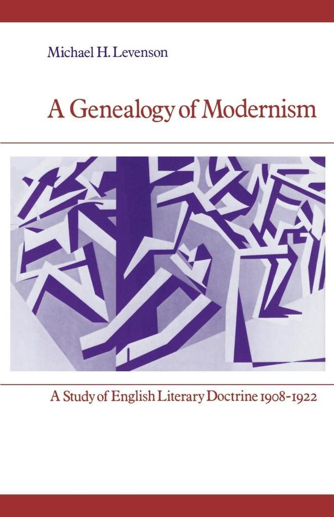 A Genealogy of Modernism als Buch (kartoniert)