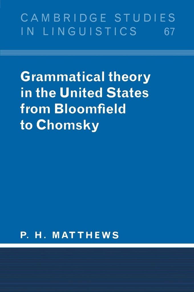Grammatical Theory in the United States als Buch (kartoniert)