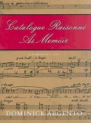Catalogue Raisonne As Memoir als Buch (gebunden)