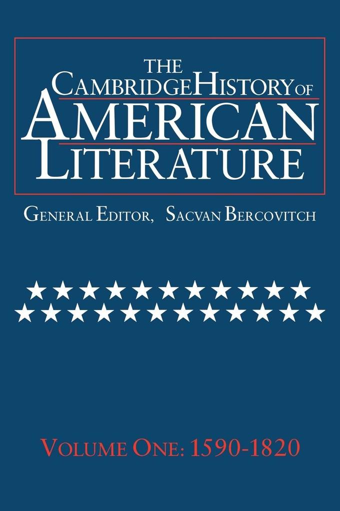 The Cambridge History of American Literature als Buch (kartoniert)