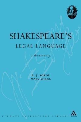 Shakespeare's Legal Language als Buch (kartoniert)