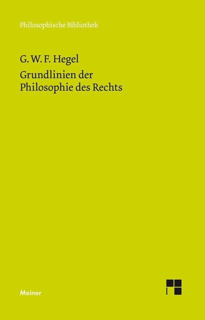 Grundlinien der Philosophie des Rechts als eBook pdf