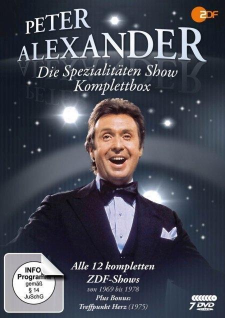 Die Peter Alexander Spezialitäten Show - Komplettbox (Alle 12 ZDF-Shows plus Treffpunkt Herz) als DVD