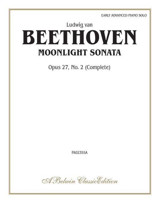 Moonlight Sonata, Op. 27, No. 2 (Complete) als Taschenbuch