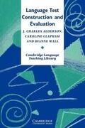 Language Test Construction and Evaluation