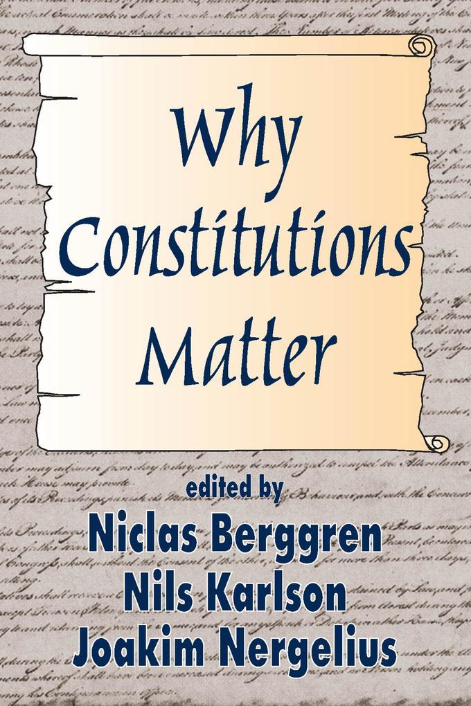Why Constitutions Matter als eBook epub