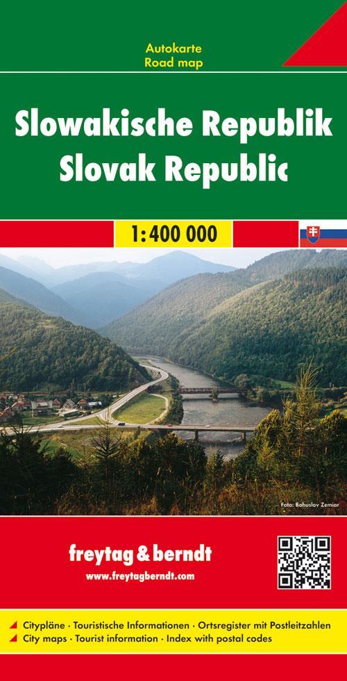 Slowakische Republik 1 : 400 000. Autokarte als Blätter und Karten