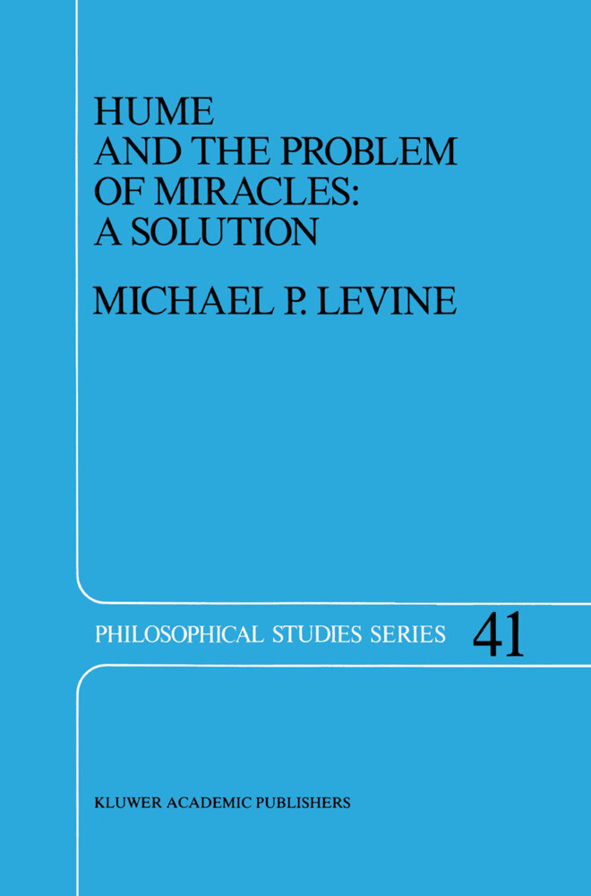Hume and the Problem of Miracles: A Solution als Buch (gebunden)