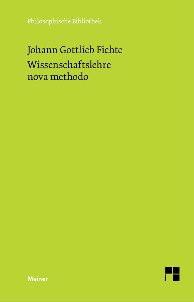 Wissenschaftslehre / nova methodo als eBook
