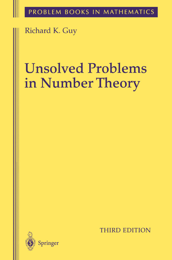 Unsolved Problems in Number Theory als Buch (gebunden)