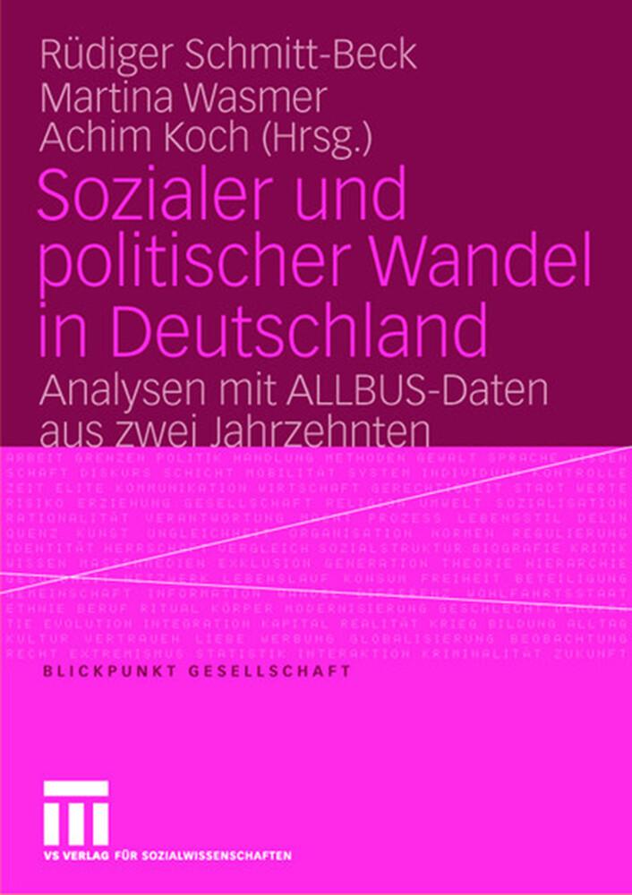 Sozialer und politischer Wandel in Deutschland als Buch (kartoniert)