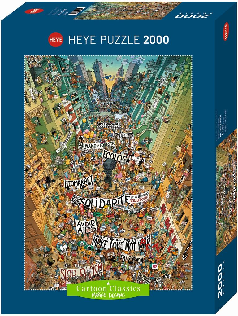 Protest! Puzzle 2000 Teile als Spielware