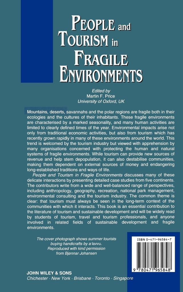 People and Tourism in Fragile Environments als Buch (gebunden)